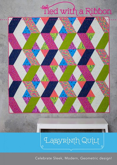 Tied with a Ribbon Labyrinth Quilt Pattern