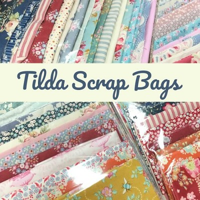 Fabric Scrap Bag - Tilda Assorted Colours - Assorted Sizes