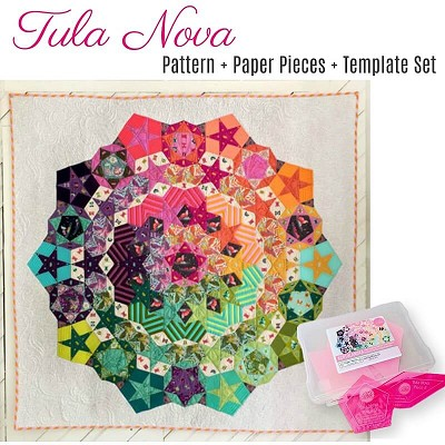 Tula Nova Quilt Pattern and Paper Piece Pack plus Acrylic Templates