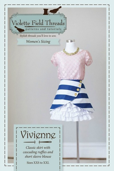 Violette Field Threads - Vivienne Womens Blouse and Skirt Pattern