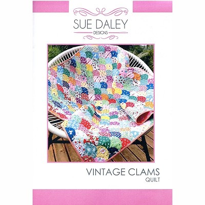Sue Daley - Vintage Clams Quilt Pattern and Template and Papers Pack