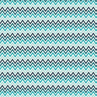 Riley Blake Designs - Inde Chic - Zig Zag Chevron in Blue