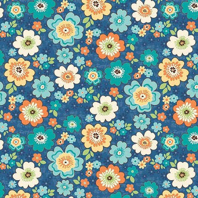 Riley Blake Designs - Road Trip Blossoms in Blue