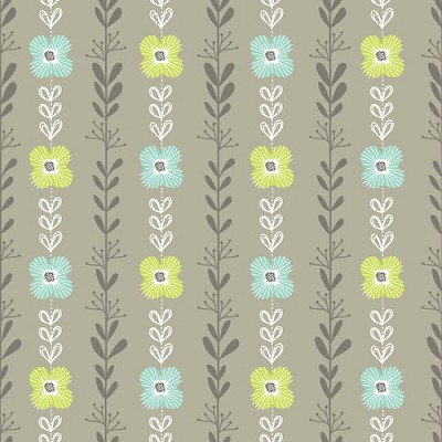 Dashwood Studio - Fly Away by Phyllida Coroneo - Grey Floral Stripe