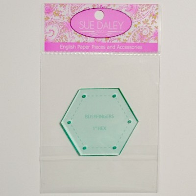 Sue Daley Designs - Hexagon Acrylic Template - Choose Your Size