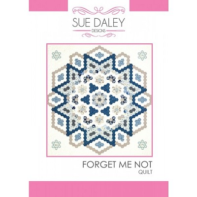 Sue Daley Designs - Forget Me Not Quilt Pattern and Templates Pack
