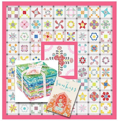 Sue Daley Designs Infusion Quilt Sew Along BLOCK OF THE MONTH in Tilda Sunkiss Fabrics