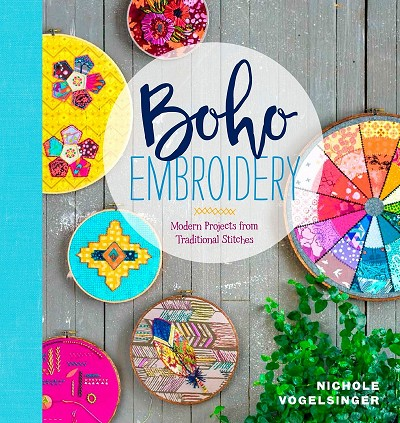 Boho Embroidery Book by Nichole Vogelsinger