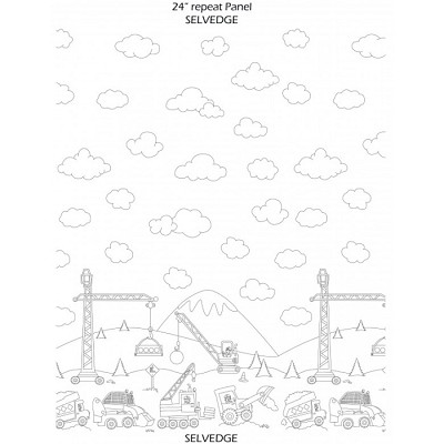Michael Miller - Color Me -  Construction Zone Single Border Print