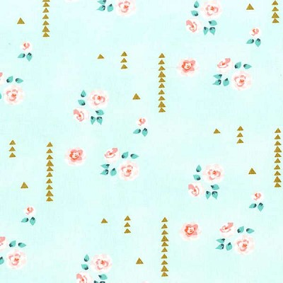 Michael Miller - Brambleberry Ridge by Violet Craft - Rosemilk in Mint