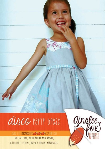 Ainslee Fox - Disco Party Dress Paper Pattern Sizes 1 to 12