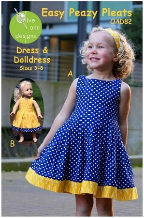 Olive Ann Designs - Easy Peasy Pleats Dress Pattern