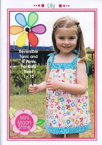 Mini Moonshine Designs - Lily - Reversible Tunic and 3/4 Pants Pattern