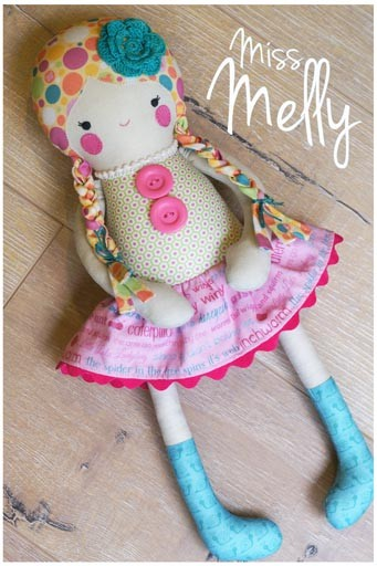 Melly and Me - Miss Melly Doll Softie Pattern