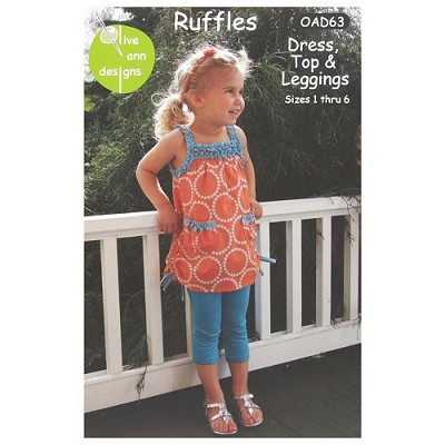 Olive Ann Designs - Ruffles - Dress, Top and Leggings Pattern