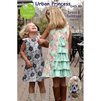 Olive Ann Designs - Urban Princess Dress and Dolls Dress Pattern