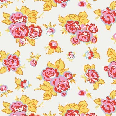 Penny Rose Fabrics - Milk, Sugar and Flower - Main Floral in Cream