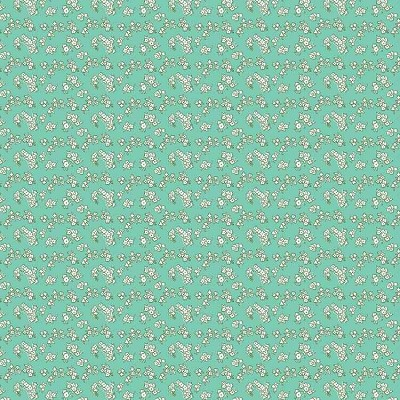 Penny Rose Fabrics - Milk, Sugar and Flower - Petals in Mint