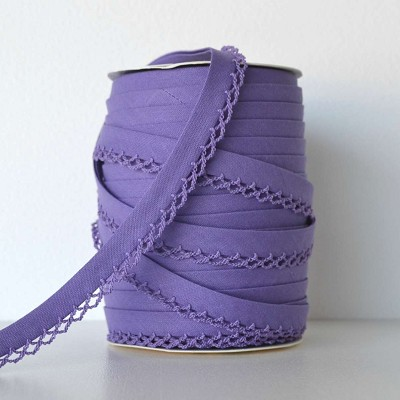 Picot Edge Bias Binding Trim - Purple
