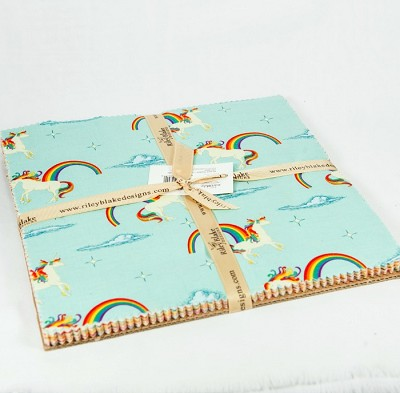 Riley Blake Designs - Unicorns & Rainbows - 10 Inch Stacker of 21 fabrics