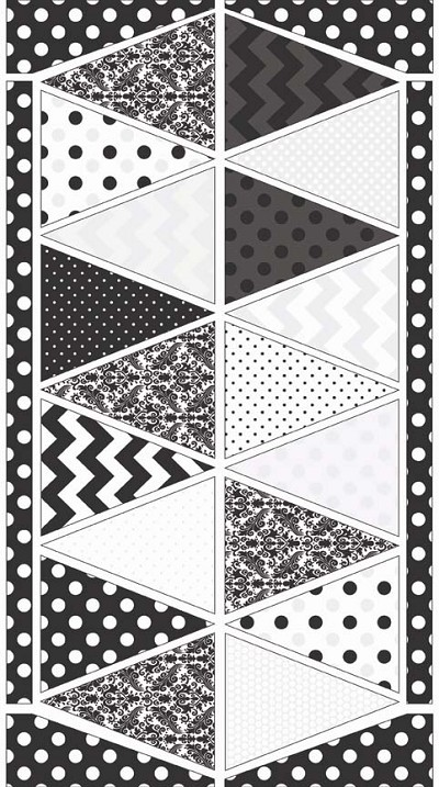 Riley Blake Designs - Hollywood Sparkle Bunting Panel in Black