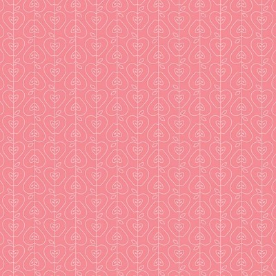 Riley Blake Designs - Apple of My Eye - Apple Stripe in Pink