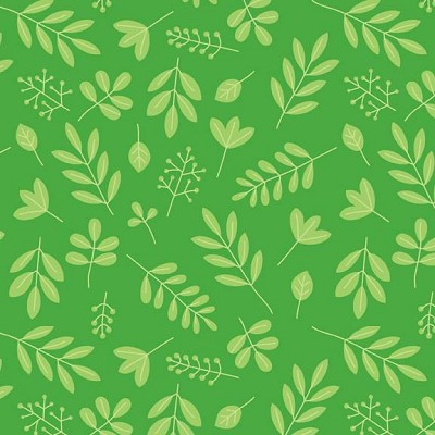 Riley Blake Designs - Zoofari - Leaves in Green