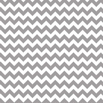Riley Blake - Small Chevron in Gray / Grey