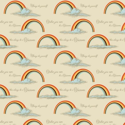 Riley Blake Designs - Unicorns and Rainbows Poster in Orange