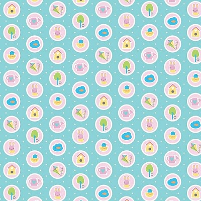 Riley Blake Designs - Sweet Home by Melly & Me - Spots Blue