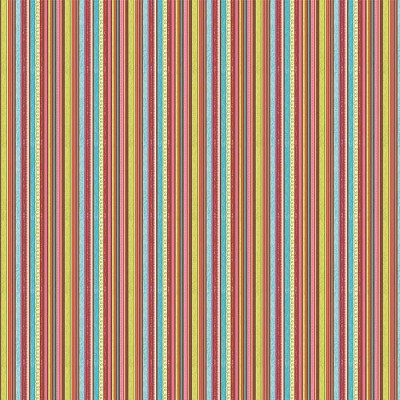 Riley Blake Designs - Happy Flappers - Stripe in Brown