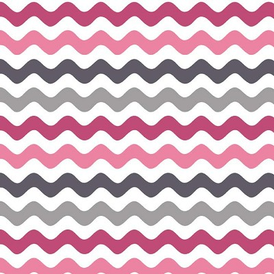 Riley Blake Designs - Mini Wave in Pink / Grey