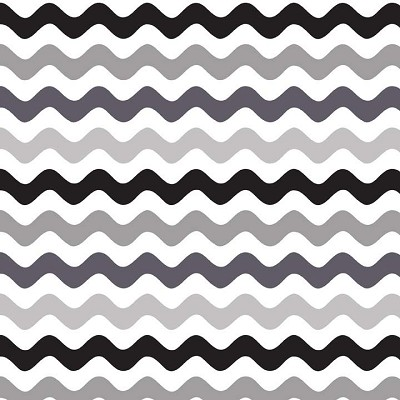 Riley Blake Designs - Mini Wave in Black / Grey