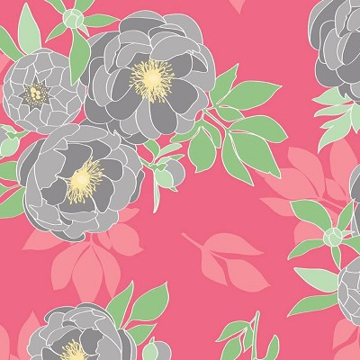 Riley Blake Designs - The Cottage Garden - Main Floral in Pink