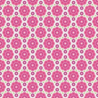 Riley Blake Designs - Summer Song 2 - Floral in Pink