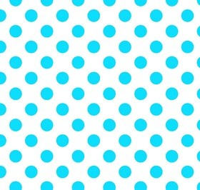 Riley Blake - Neon Dots / Spots in Neon Blue on White *** REMNANT 3.2 METRE PIECE ***