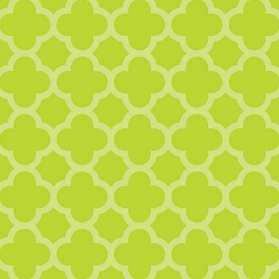 Riley Blake Designs - Sparkle Quatrefoil in Lime *** REMNANT 2 METRE PIECE ***