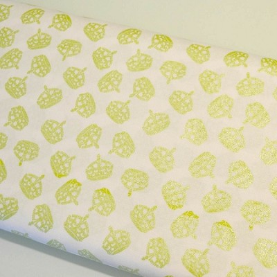 Riley Blake Designs - Hollywood Sparkle Crowns in Lime Green *** REMNANT 2 METRE PIECE ***