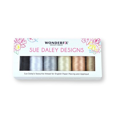Sue Daley Wonderfil Thread Pack of 6 Neutrals