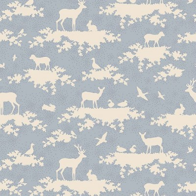 Tilda - Sweetheart - Forest in Light Blue *** HALF METRE ***