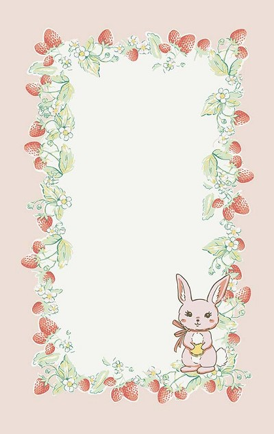 Penny Rose Fabrics - Bunnies and Cream Tea Towel - Bunny